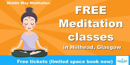 Free Meditation Class in Hillhead Library, Byres Road, Glasgow