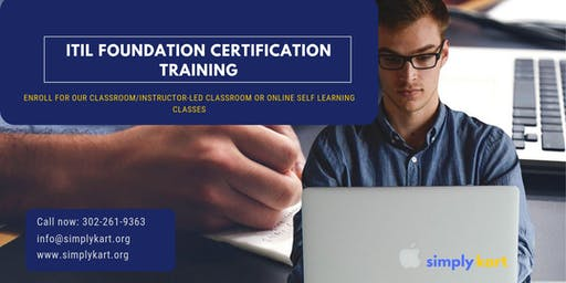 ITIL Certification Training in Val-d'Or, PE