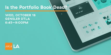 Is the Portfolio Book Dead? tickets