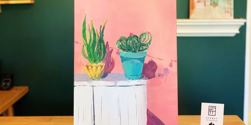 THINGS TO DO -PAINT & SIP: POTTED PLANT-B