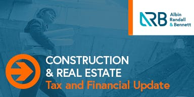Construction & Real Estate Tax and Financial Update- South Portland, ME