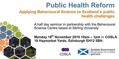 Public Health Reform and Behavioural Science Event