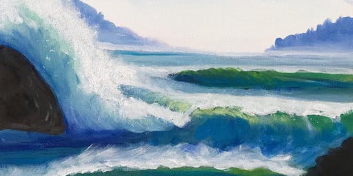 West Coast Waves - Paint and Sip Night - Snacks Included