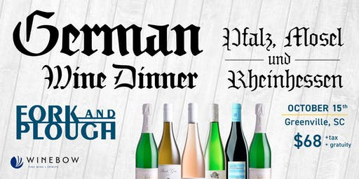 Fall Celebration Dinner featuring German Wines