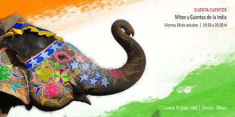 """Cuenta-Cuentos """"Mitos y Cuentos de la India"""" entradas"""