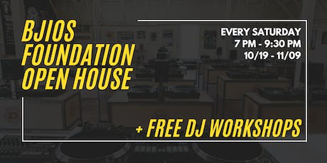 BJIOS Open House - FREE DJ Workshops!  tickets