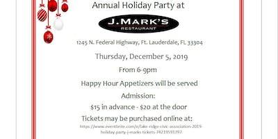 Lake Ridge Civic Association 2019 Holiday Party @ J. Mark's