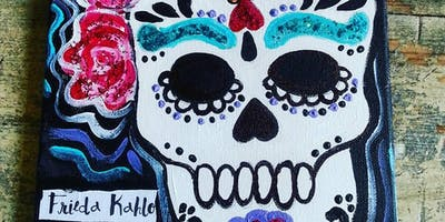 10/16 $22 Sugar Skull @ Paint Like ME!
