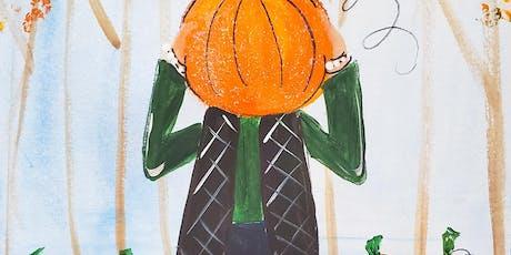 10/19 $22 Pumpkin Head @ Paint Like ME!  tickets