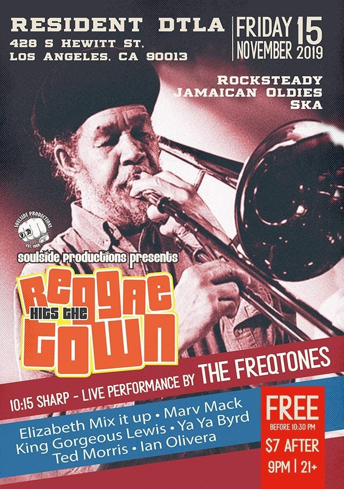 Reggae Hit the Town + Performing Live - The FreQtones