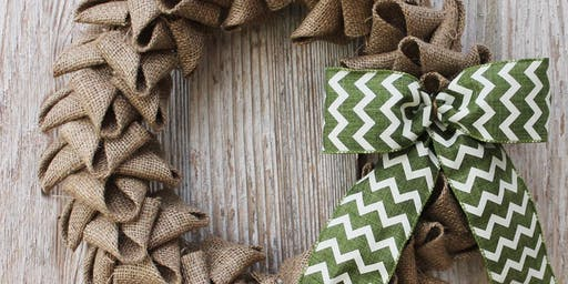 Make It Christmas - Burlap Wreath
