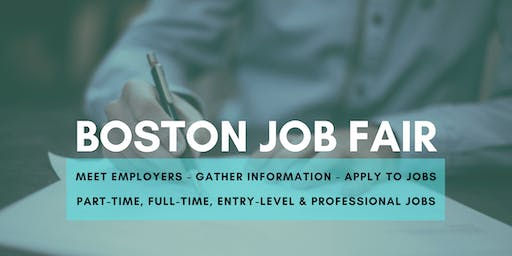 Boston Job Fair - November 12, 2019 Job Fairs & Hiring Events in Boston MA