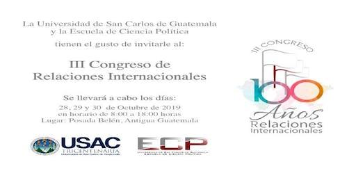 III Congreso de Relaciones Internacionales ECP-USAC