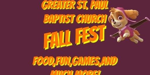 Greater St Paul Baptist Church Fall Fest 2019