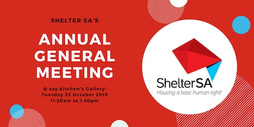 Shelter SA Annual General Meeting 2019