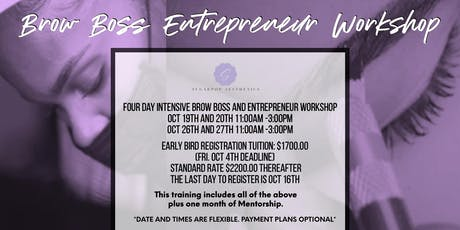 4 Day Intensive Brow Boss And Entrepreneurship Workshop tickets