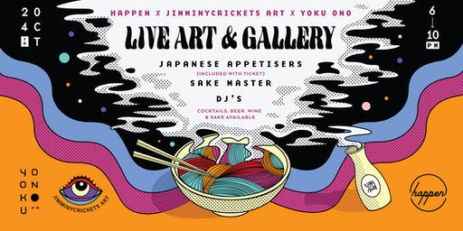 A night with JimminyCricketsArt x Yoku Ono