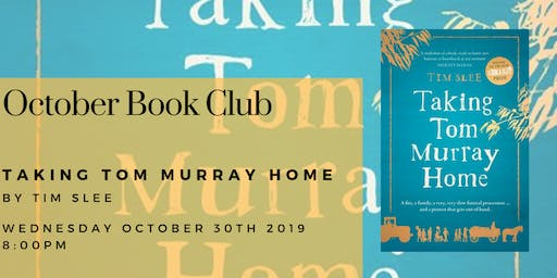 October Book Club - Taking Tom Murray Home