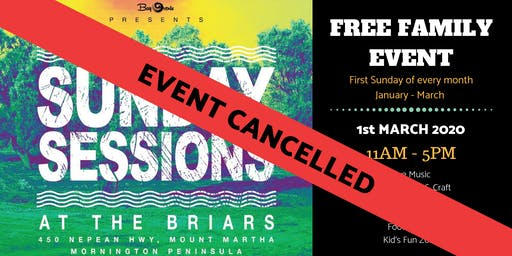 CANCELLED - Sunday Sessions at the Briars - 1st March 2020