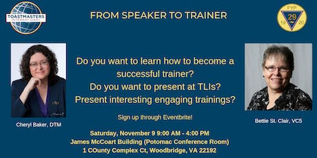 From Speaker to Trainer - November 2019 tickets