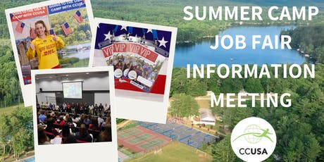 Canberra Camp Counselors & Job Fair Information Event tickets