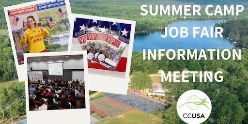 Canberra Camp Counselors & Job Fair Information Event