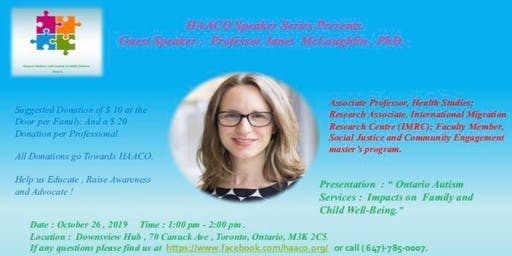 HAACO Speaker Series with Professor Janet McLaughlin