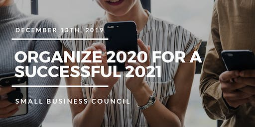Organize 2020 for a Successful 2021