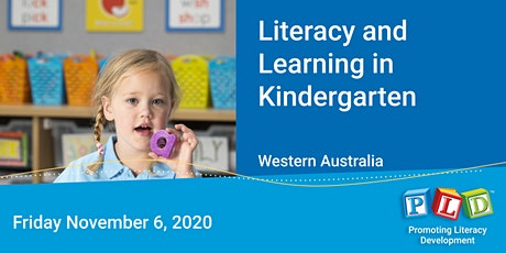 Literacy and Learning in Kindergarten November 2020 tickets
