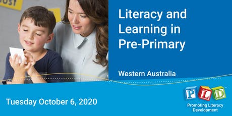 Literacy and Learning in Pre-Primary October 2020 tickets