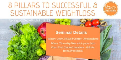 The 8 Pillars to Successful & Sustainable Weightloss tickets