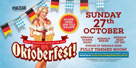 Oktoberfest at Publican, Mornington! tickets