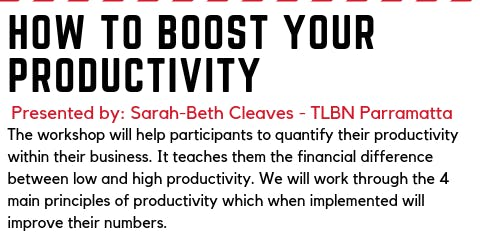 How to boost your productivity workshop