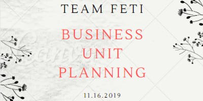 Business Unit Planning