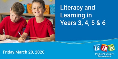 Literacy and Learning in Years 3 to 6 March 2020 tickets