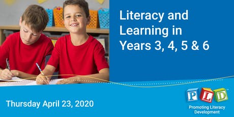 Literacy and Learning in Years 3 to 6 April 2020 tickets