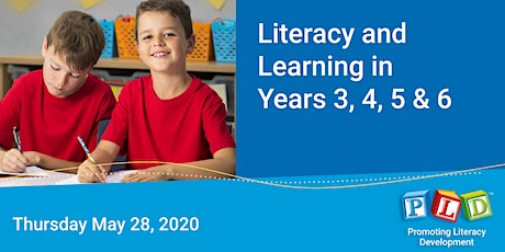 Literacy and Learning in Years 3 to 6 May 2020 tickets