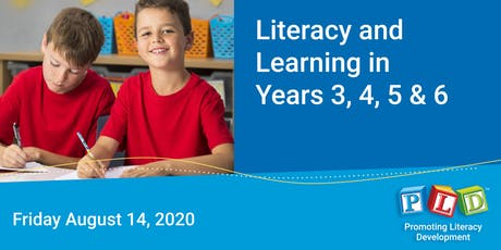 Literacy and Learning in Years 3 to 6 August 2020 tickets