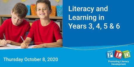 Literacy and Learning in Years 3 to 6 October 2020 tickets