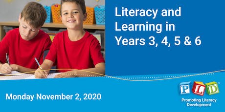 Literacy and Learning in Years 3 to 6 November 2020 tickets