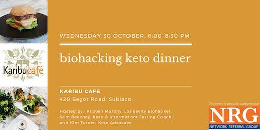 Biohacking Keto Dinner at Karibu Cafe