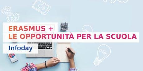 Infoday Erasmus + le opportunità per la scuola biglietti
