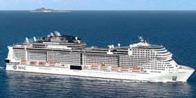 Einladung zur Schiffstaufe der MSC Grandiosa im Hamburger Hafen
