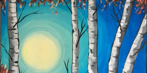 Paint & Sip Party - 'Silver Birch Glory' at Hare on the Green, Brampton