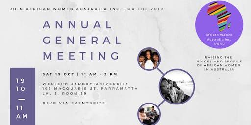 African Women Australia Inc.  - Annual General Meeting 2019