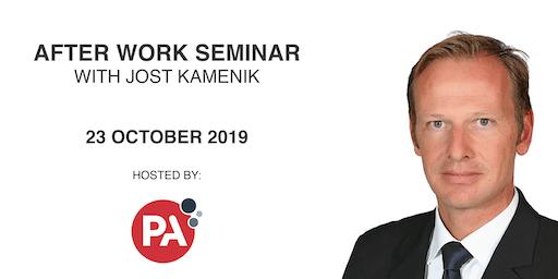Evening Seminar with Jost Kamenik at PA Consulting