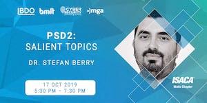 [Educational Event] PSD2: Salient Topics by Dr. Stefan...