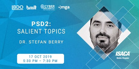 [Educational Event] PSD2: Salient Topics by Dr. Stefan Berry tickets