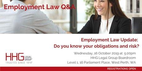 HHG Legal Q&A Series - Employment Law tickets