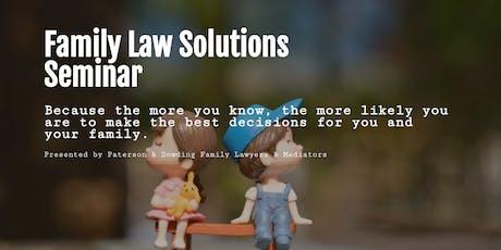 Family Law Solutions Seminar Bunbury tickets